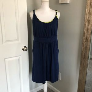 Cato Navy & Lime Green Mini Dress